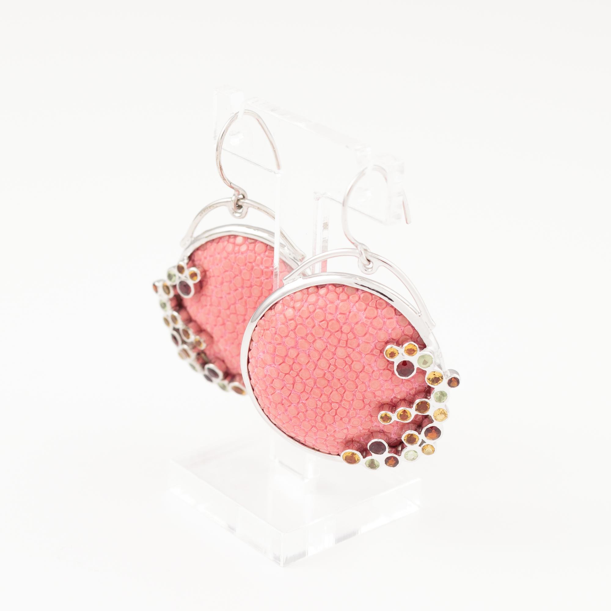 tresor-by-flore-galuchat-boucles-d-oreilles-ronde-pierres-rose