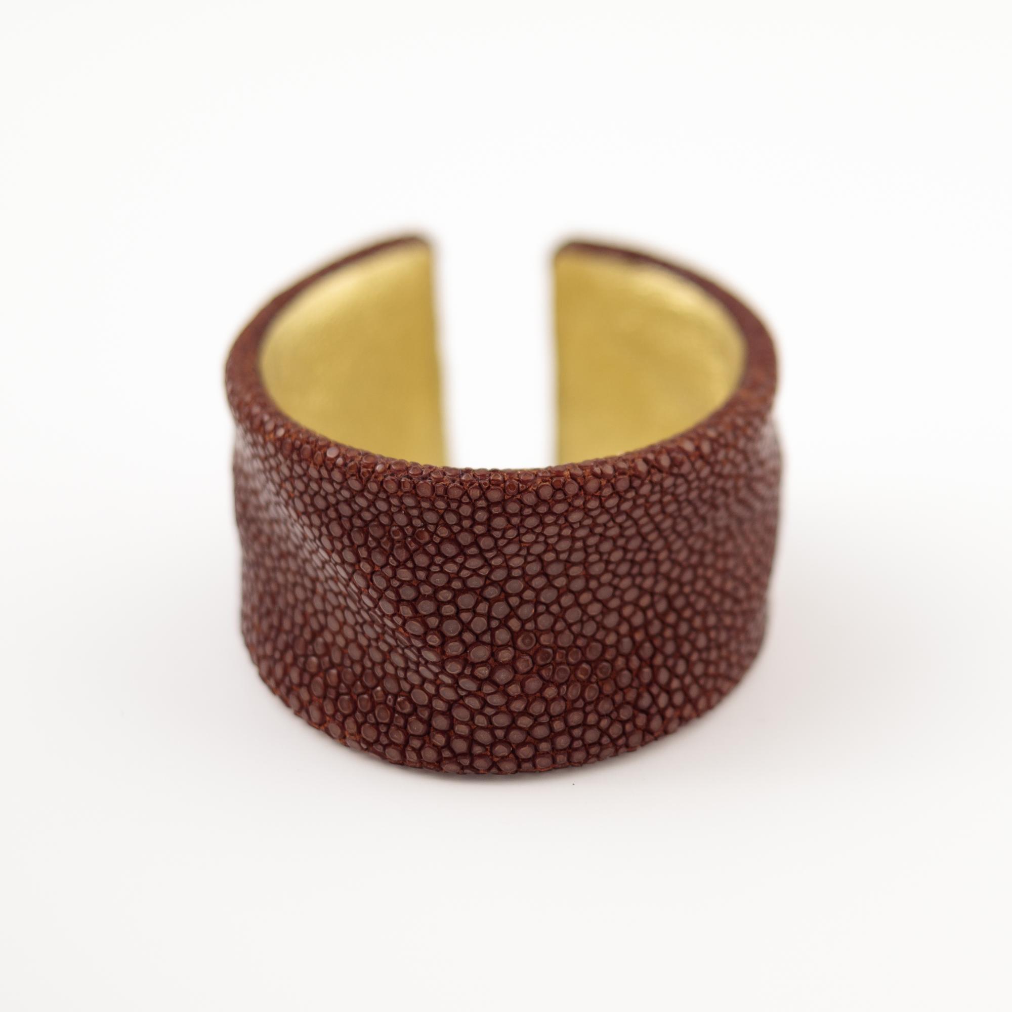 tresor-by-flore-galuchat-bracelet-froisse-caramel