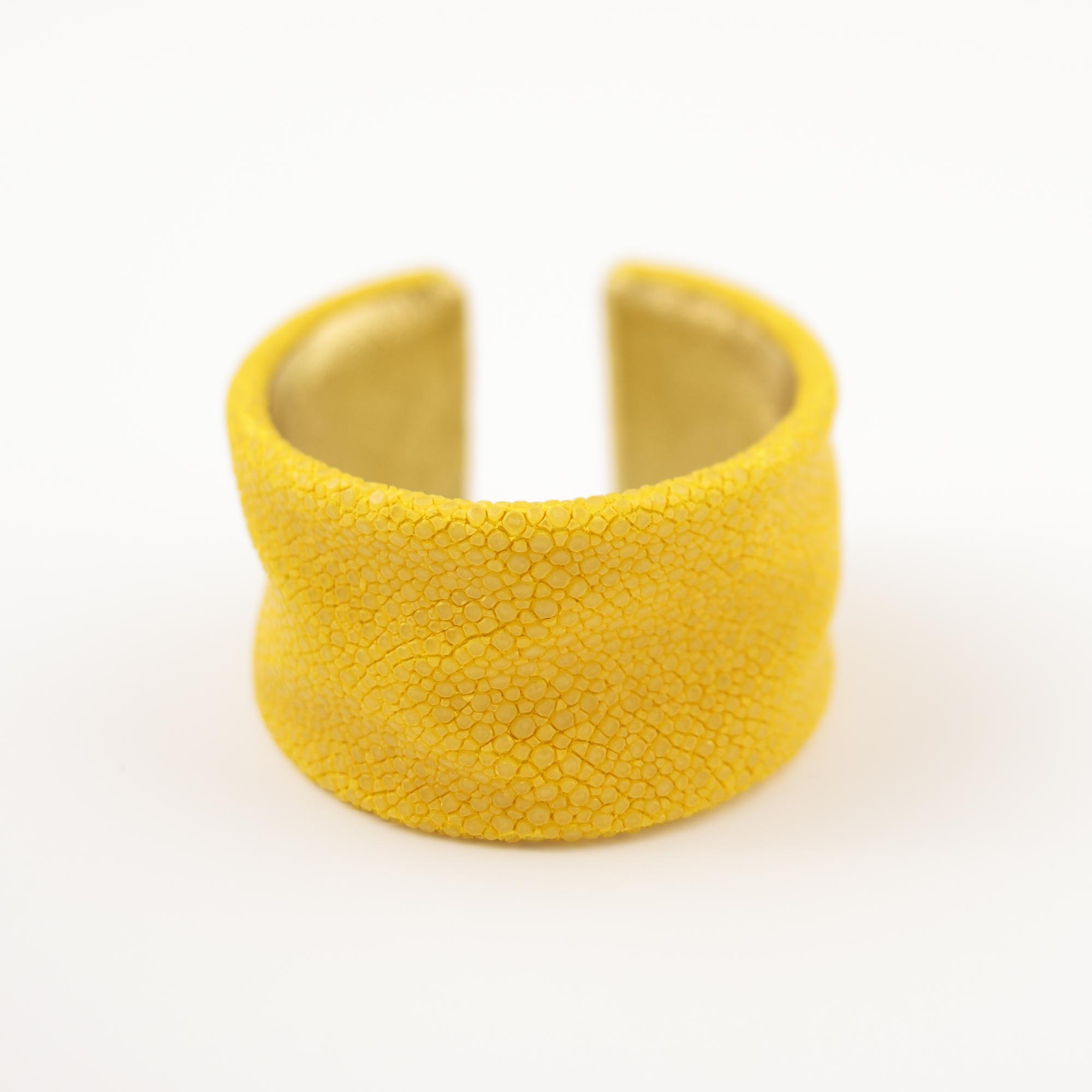 tresor-by-flore-galuchat-bracelet-froisse-citron