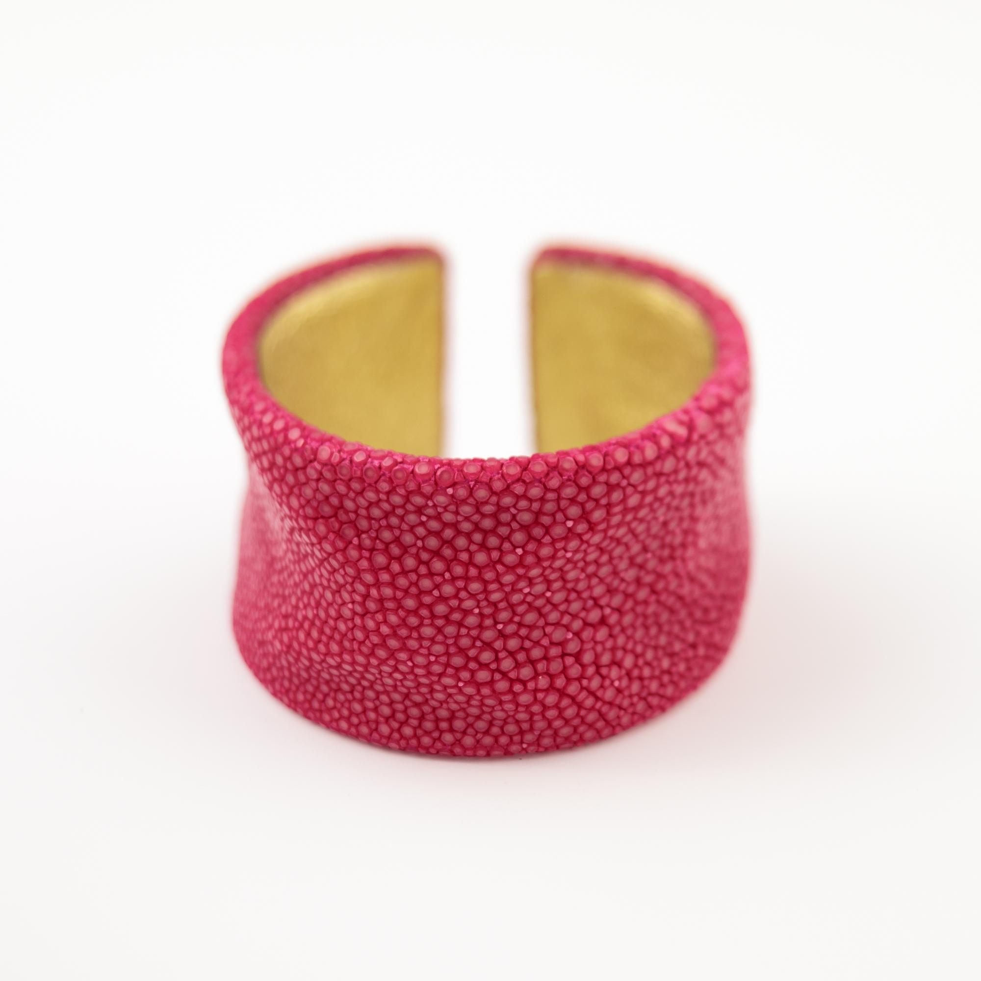 tresor-by-flore-galuchat-bracelet-froisse-fushia