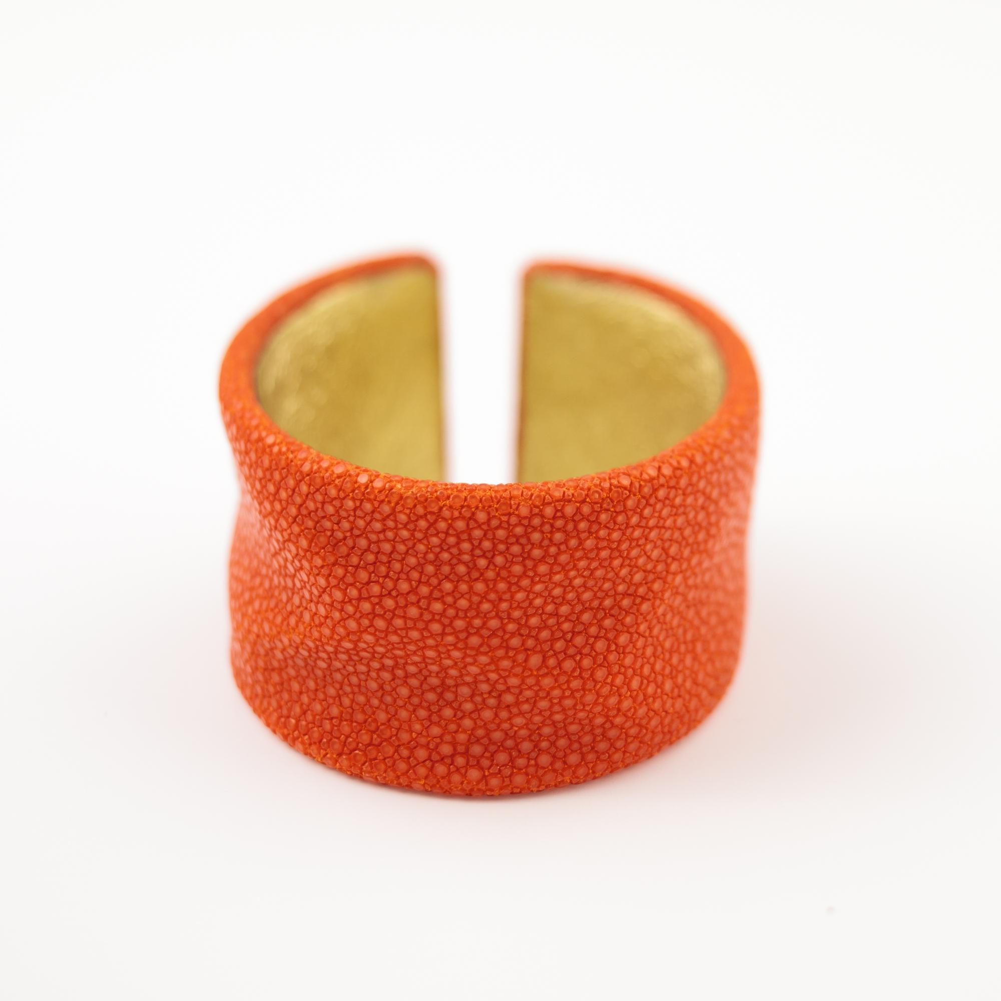 tresor-by-flore-galuchat-bracelet-froisse-mandarine