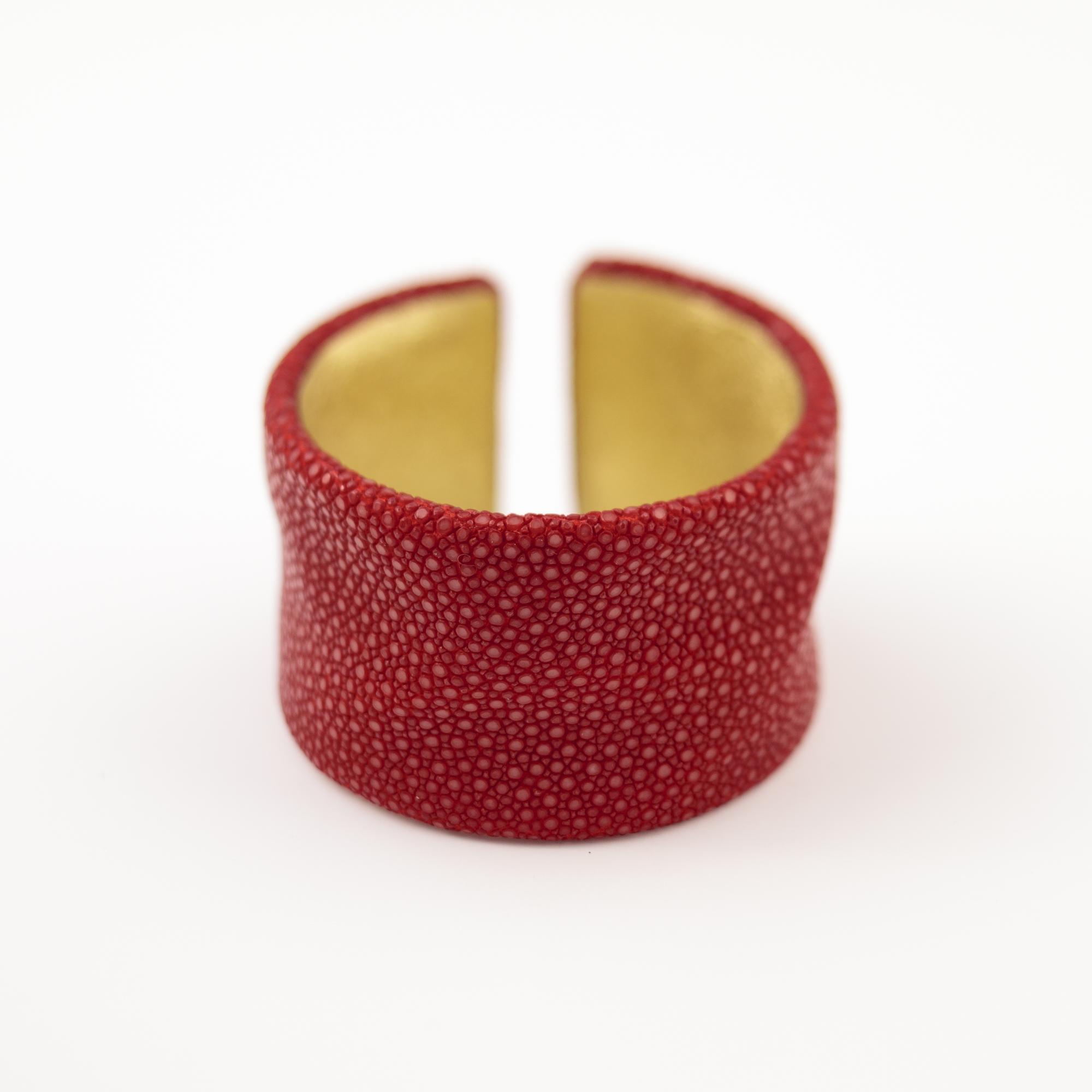 tresor-by-flore-galuchat-bracelet-froisse-rouge