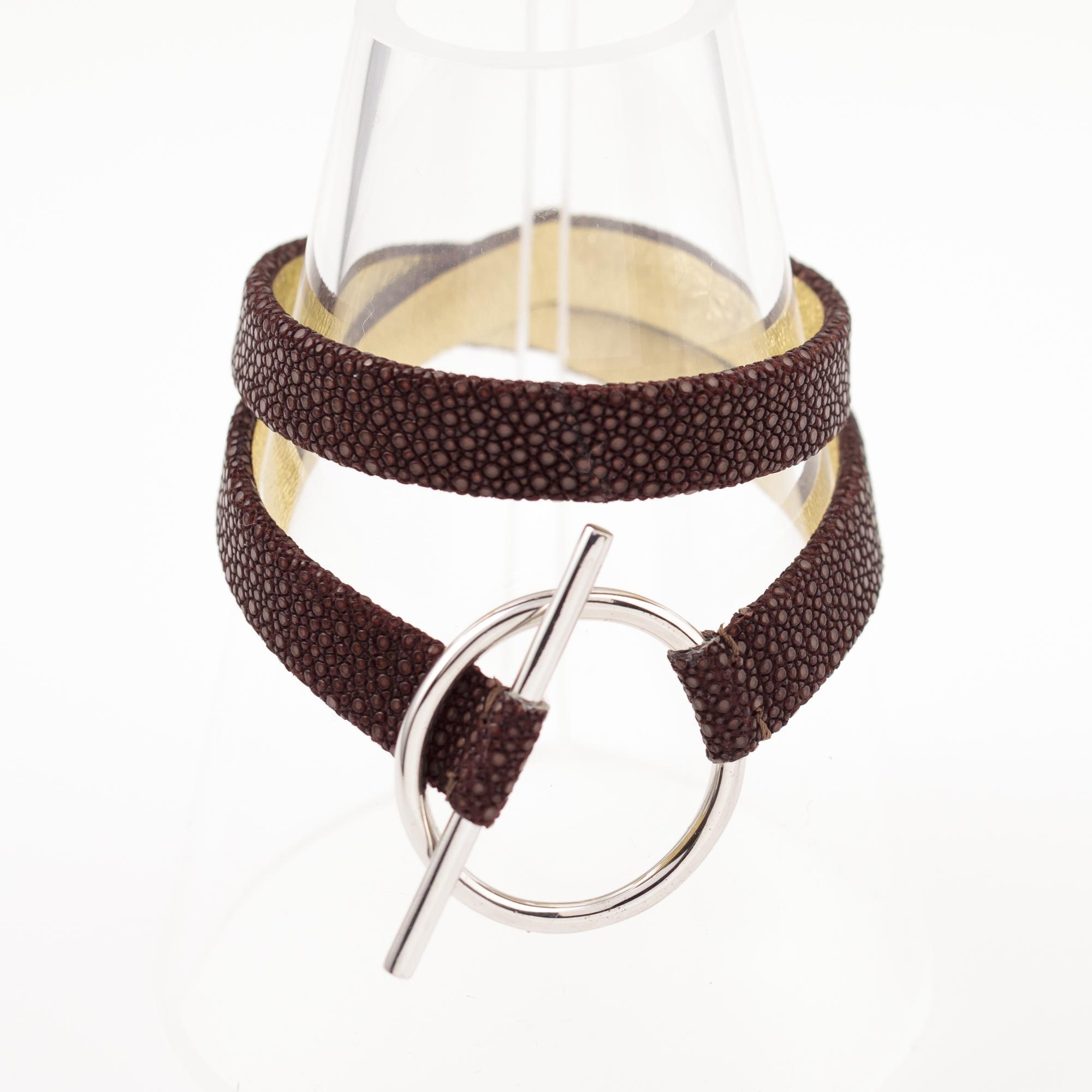 tresor-by-flore-galuchat-bracelet-mors-chocolat