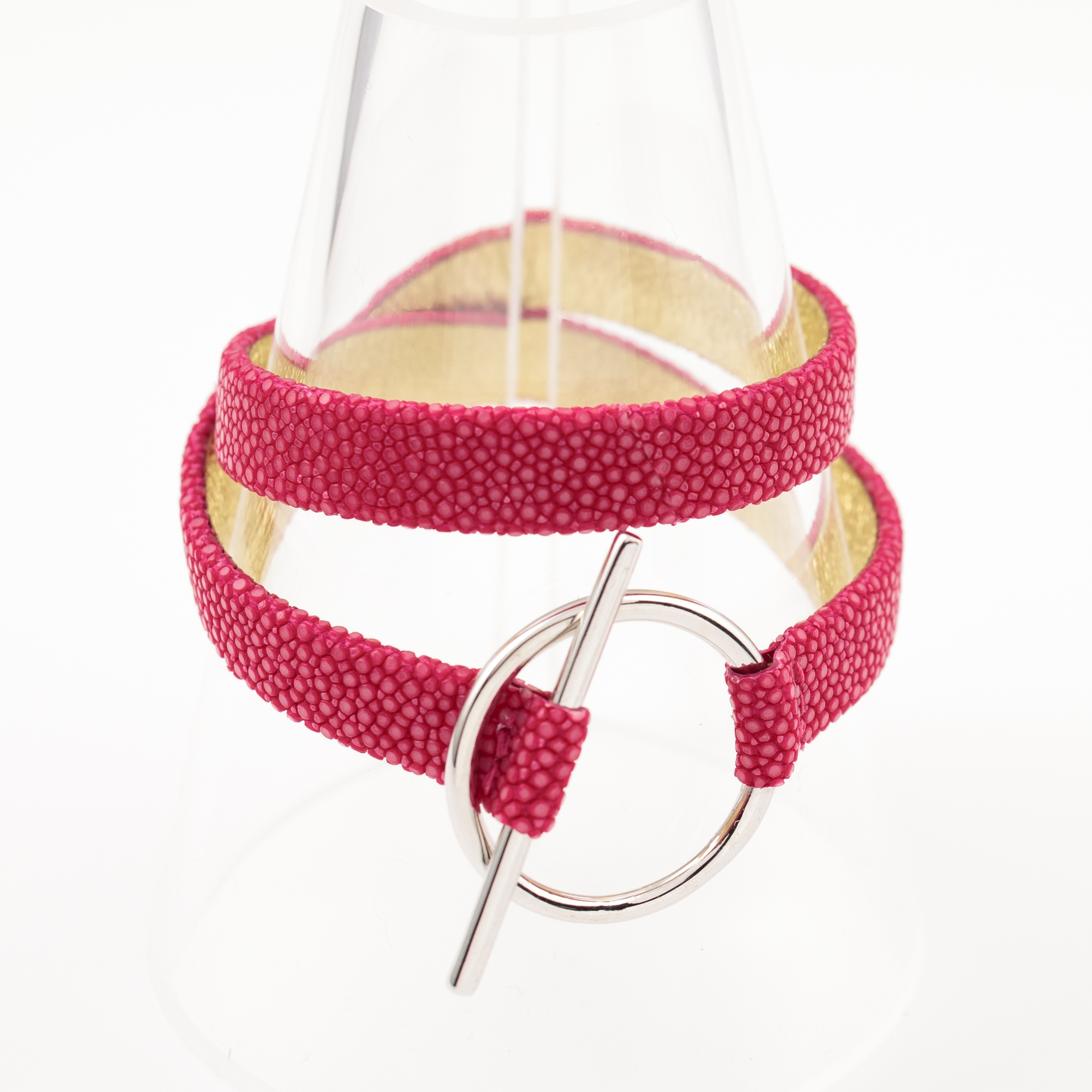 tresor-by-flore-galuchat-bracelet-mors-fushia