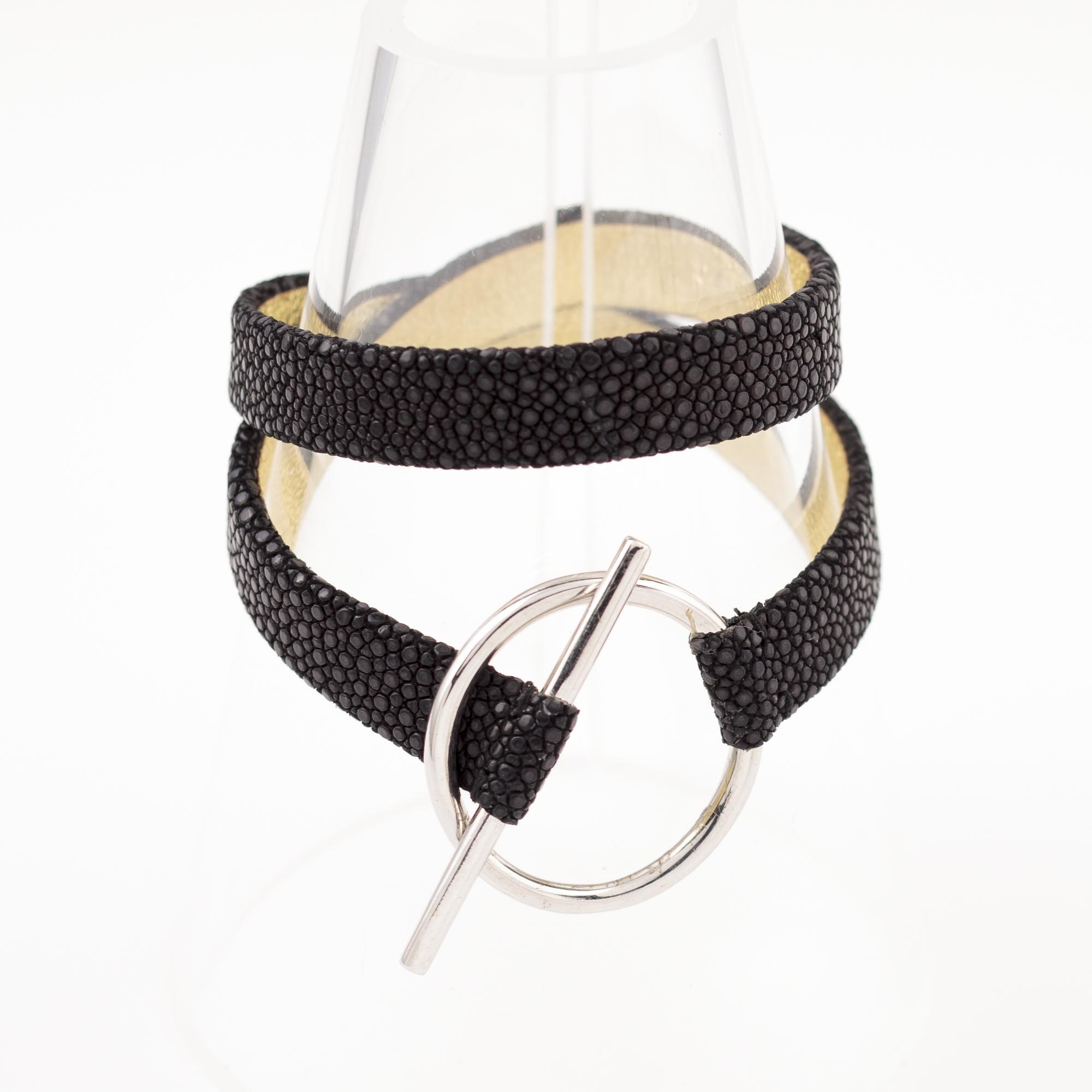tresor-by-flore-galuchat-bracelet-mors-noir