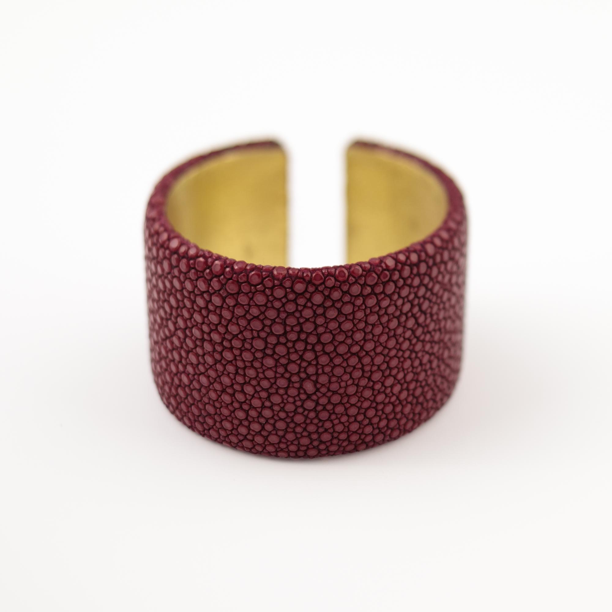 tresor-by-flore-galuchat-bracelet-plat-bordeaux