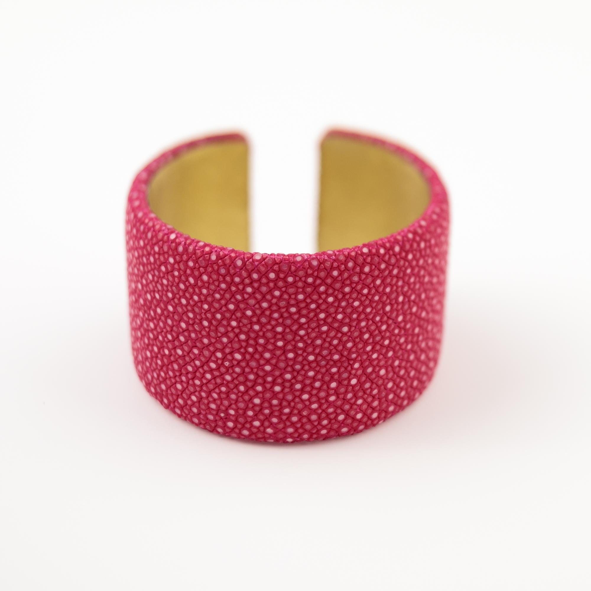 tresor-by-flore-galuchat-bracelet-plat-fushia