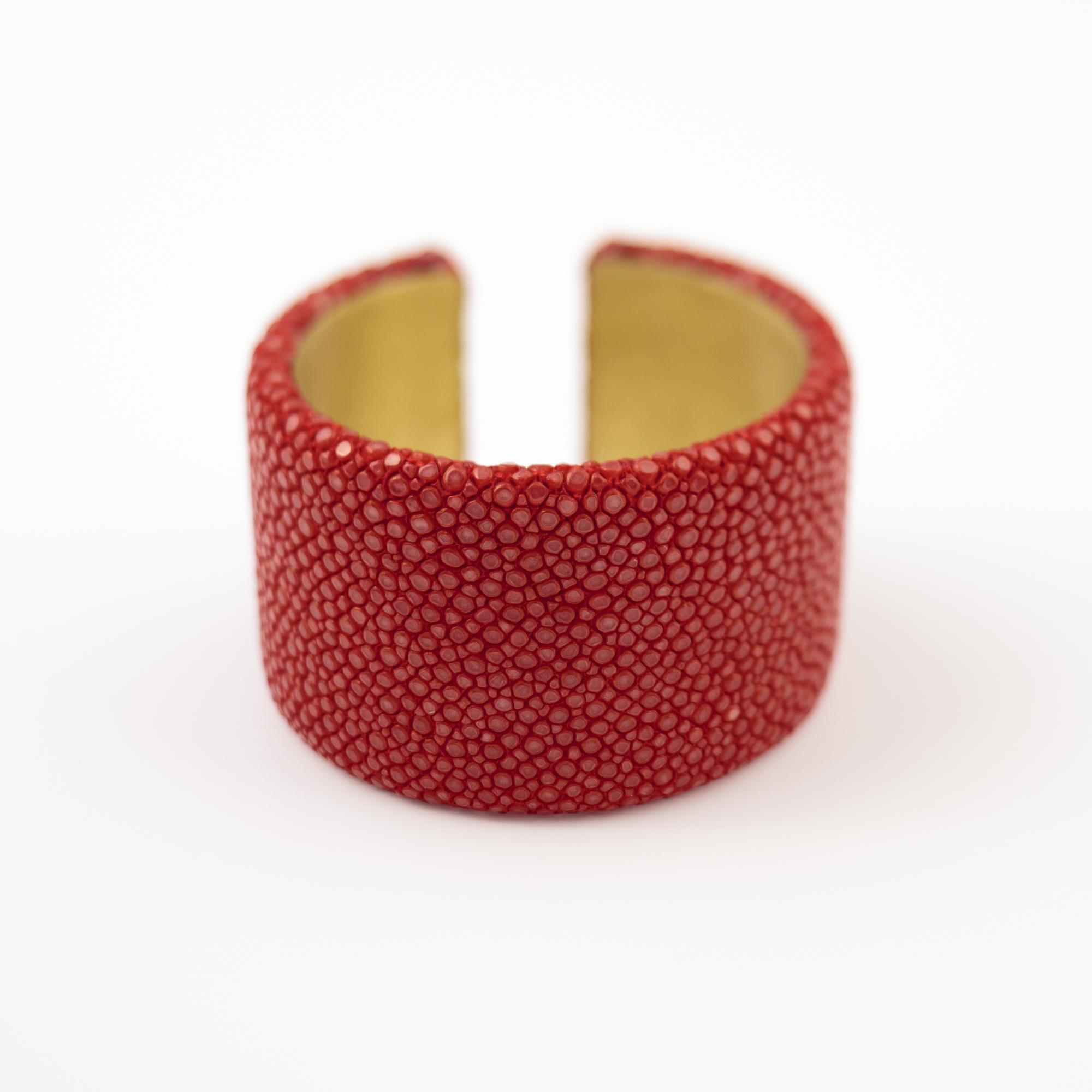 tresor-by-flore-galuchat-bracelet-plat-rouge