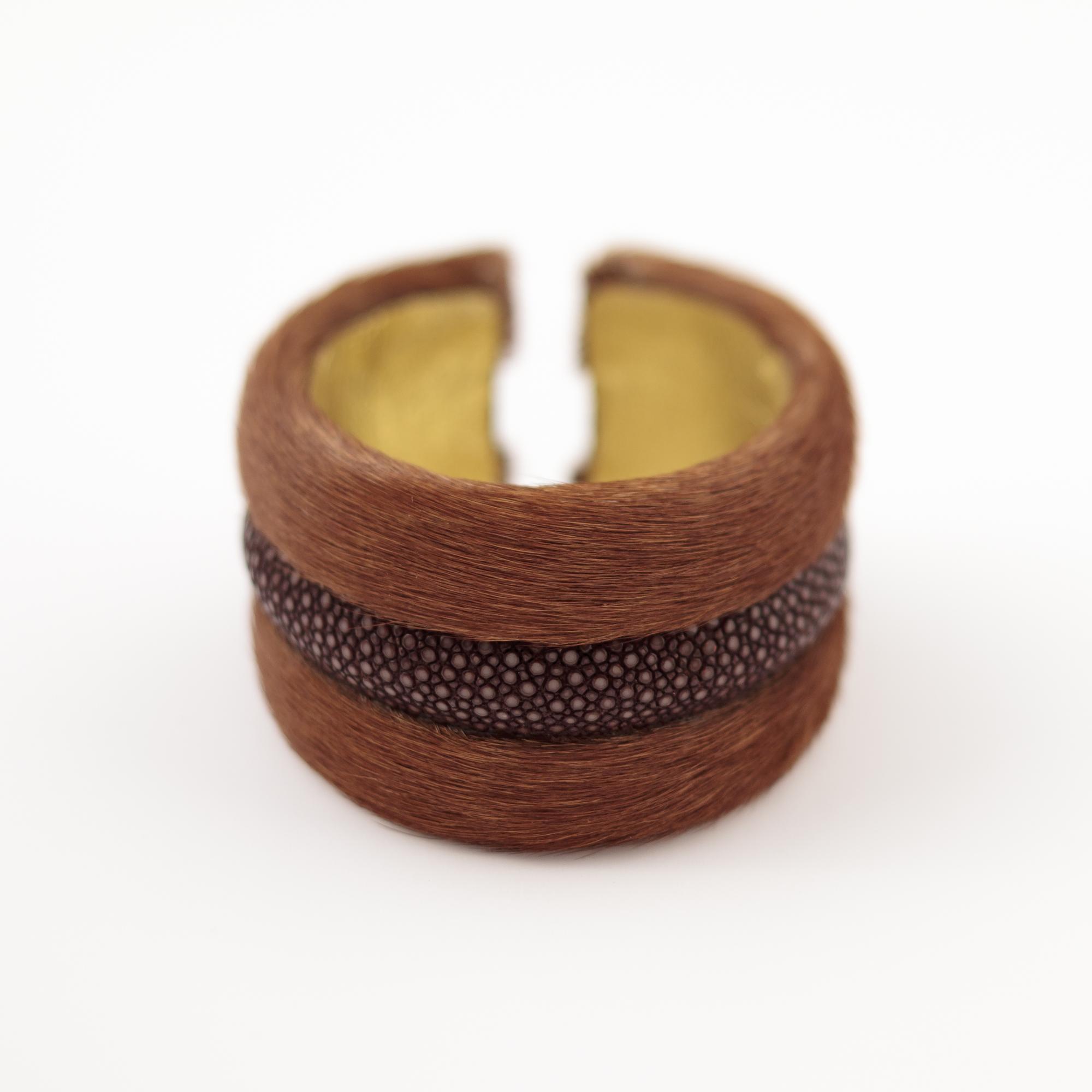 tresor-by-flore-galuchat-bracelet-poilu-marron-chocolat