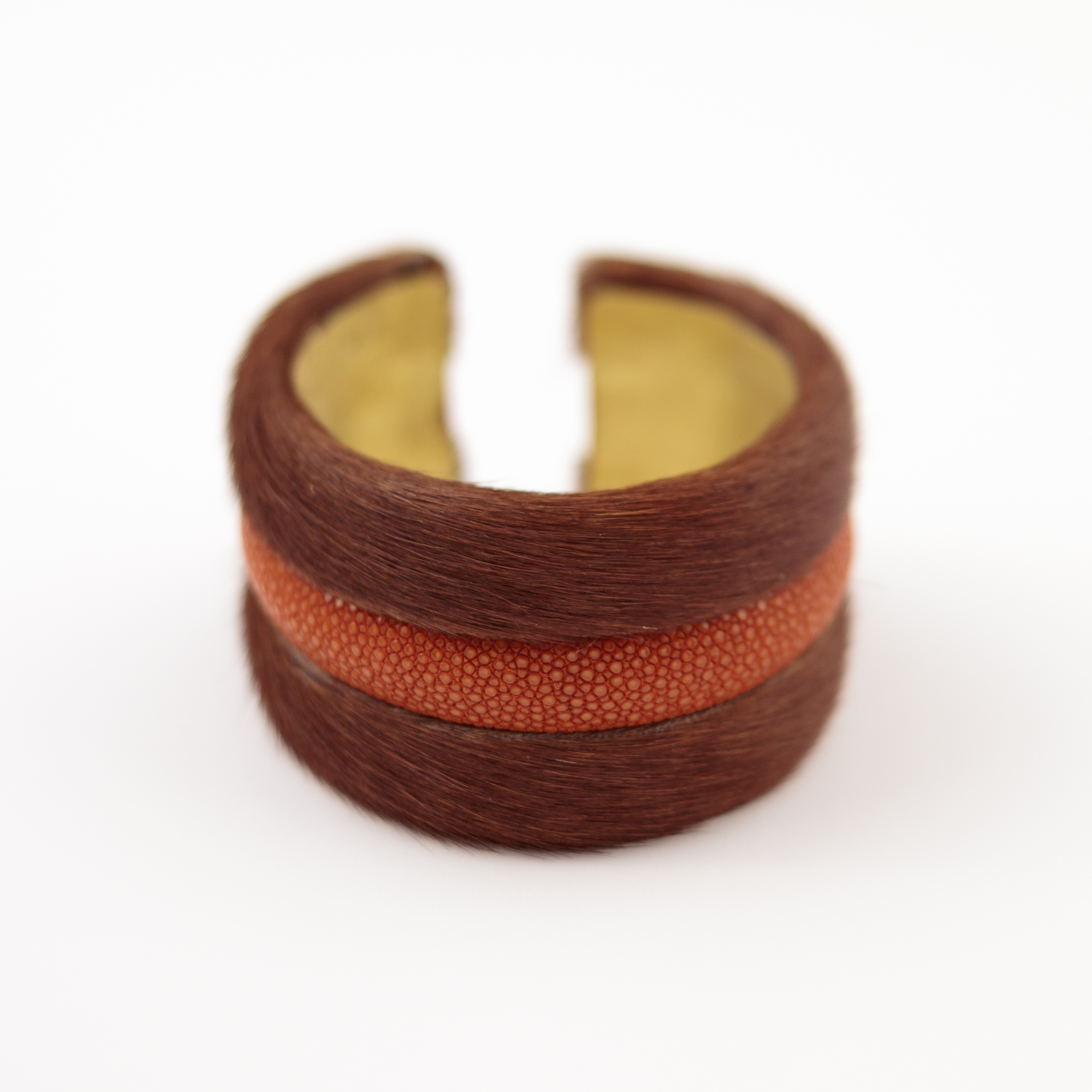 tresor-by-flore-galuchat-bracelet-poilu-marron-orange