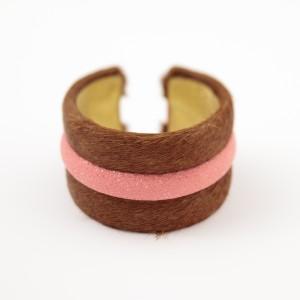 tresor-by-flore-galuchat-bracelet-poilu-marron-rose