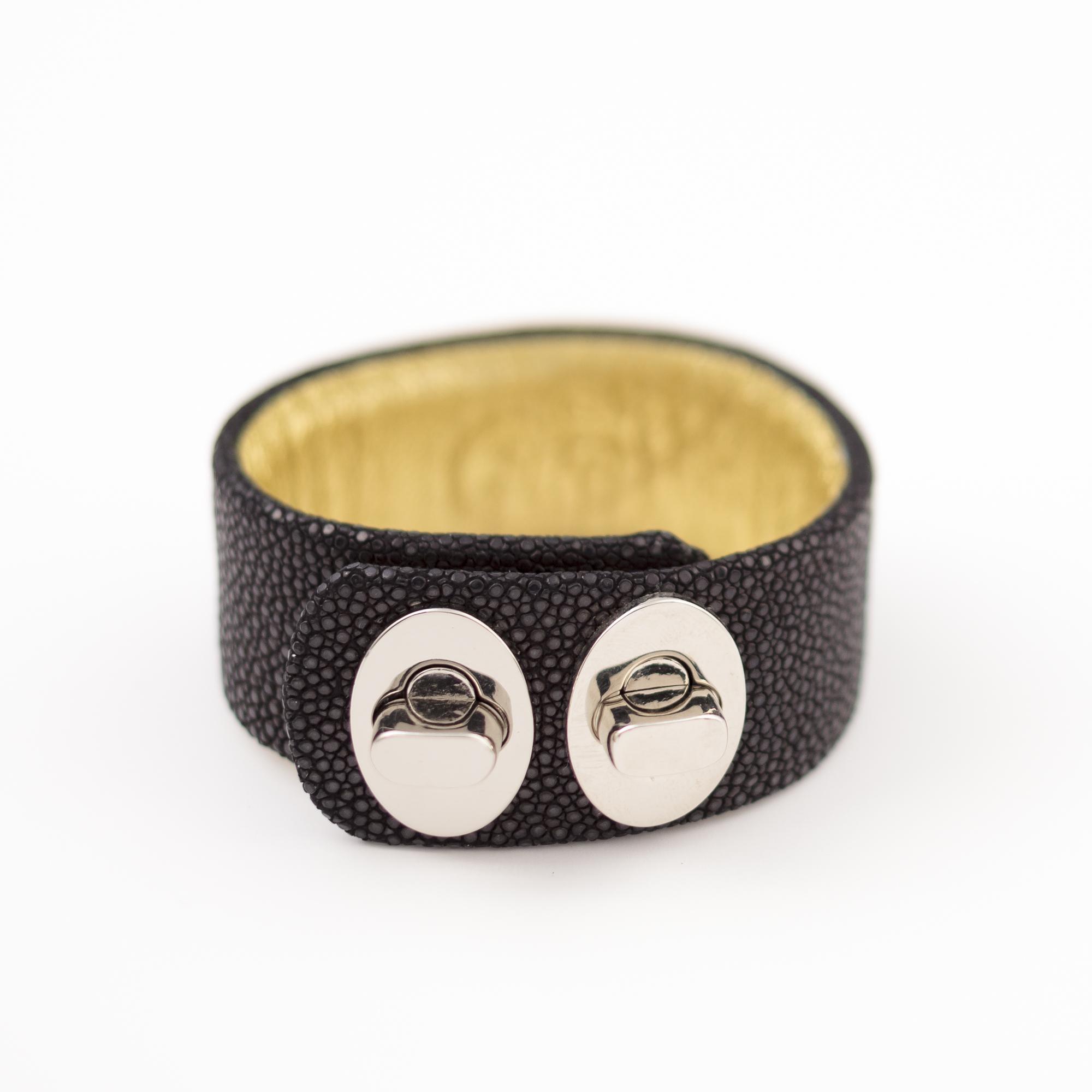 tresor-by-flore-galuchat-bracelet-two-noir